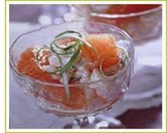 Recette salade de crevettes au pamplemousse