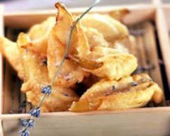 Recette beignets de poires à la lavande