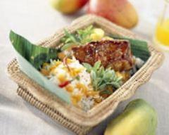 Recette porc caramélisé aux mangues