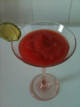 Recette de cocktail glacé à la pastèque (frozen watermelon)