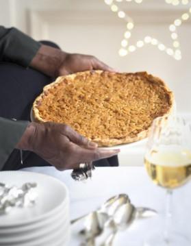 « tarte dure » miel et amandes pour 6 personnes