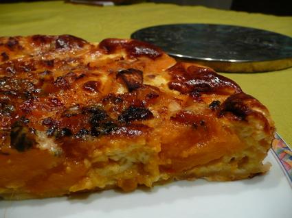 Recette de tarte au potimarron et roquefort