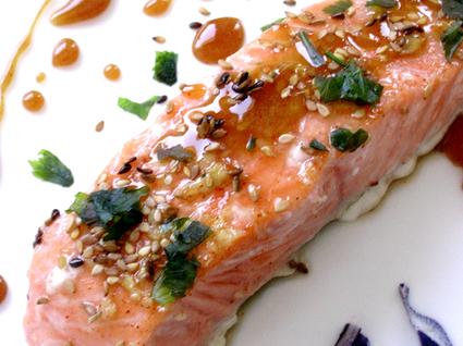 Recette de pavés de saumon caramélisés