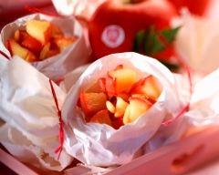 Recette papillotes de pommes caramélisées aux pignons