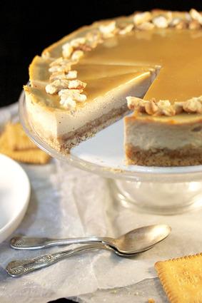 Recette de cheesecake aux petits-beurre & caramel beurre salé