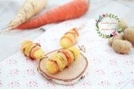 Recette de brochettes de pommes de terre, carottes oranges et ...