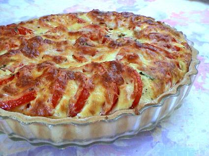 Recette de tarte à la tomate et au basilic