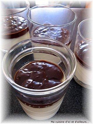 Recette de panna cotta à la sauce chocolat