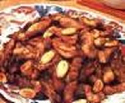 Recette de poulet sauté aux amandes