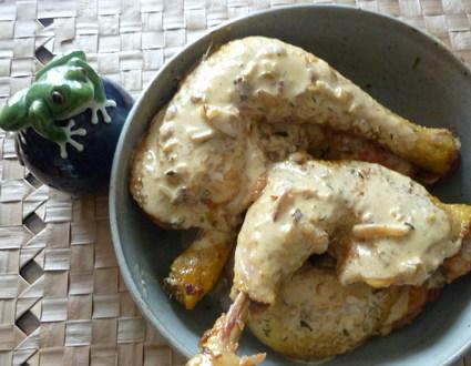 Recette de cuisses de poulet à la moutarde