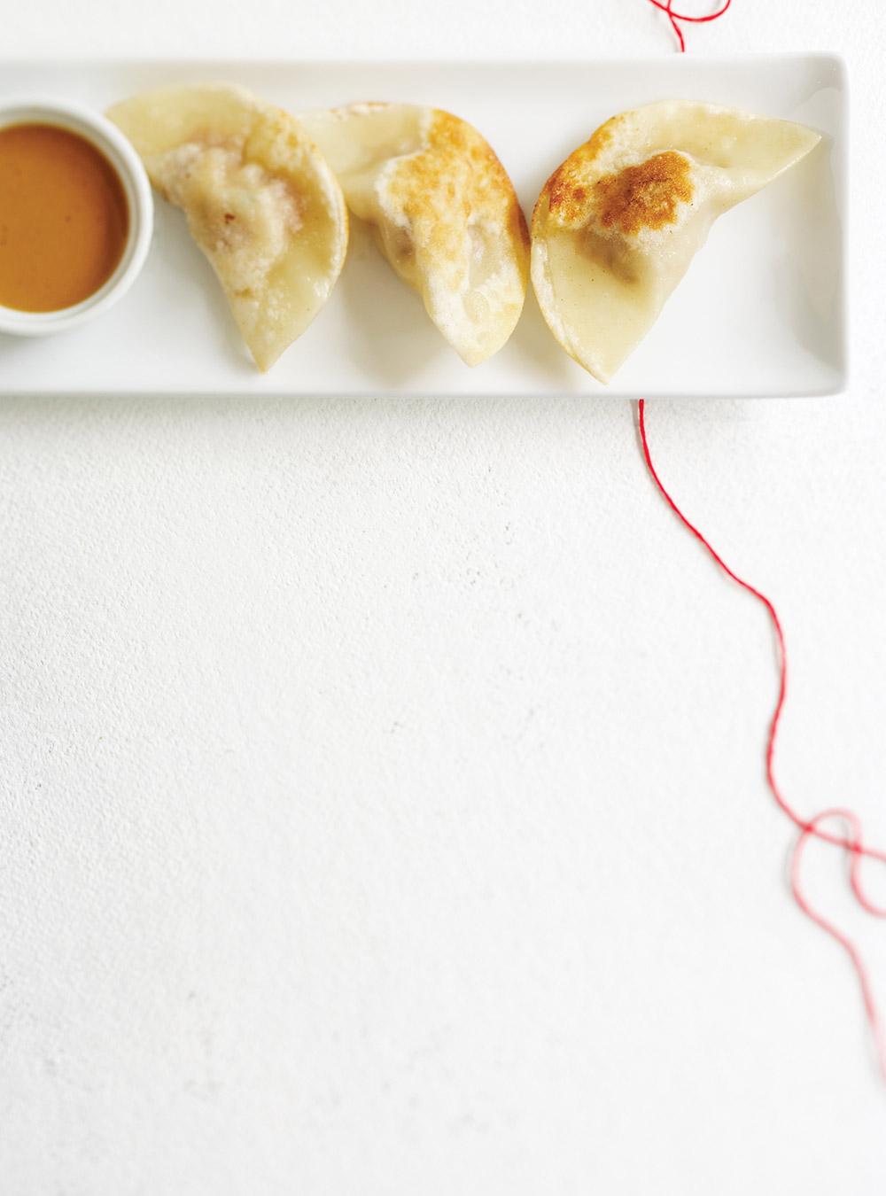 Dumplings de porc et sauce aux arachides | ricardo