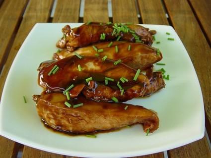 Recette aiguillettes de poulet laquées