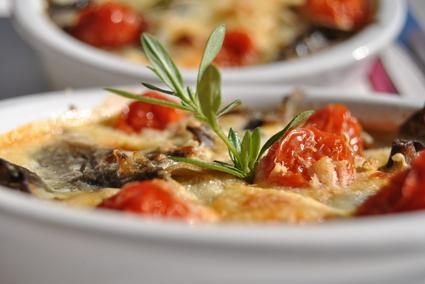 Recette de clafoutis d'aubergines et tomates confites