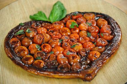 Recette de tatin de tomates cerises et son caramel de balsamique ...