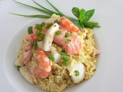 Recette de riz pilaf de la mer
