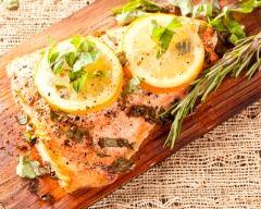 Recette saumon au basilic