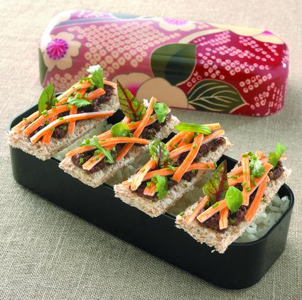 Recette de les tartines surimi soleil
