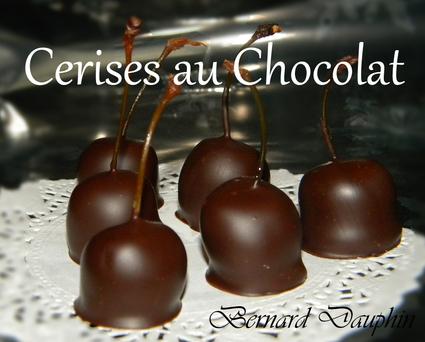 Recette de les cerises au chocolat