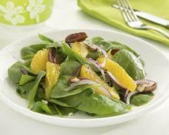 Recette salade de pousses d'épinards, oranges et noix minceur