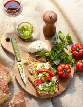 Tartines au chèvre frais, tomates et pistou pour 4 personnes ...