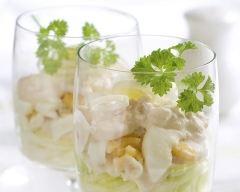 Recette crème de chèvre et pommes en verrines