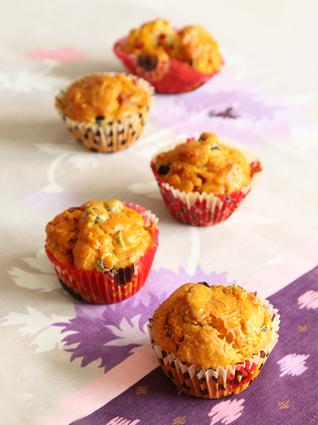 Recette de muffins ou cakes salés au chorizo et aux olives