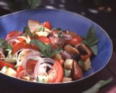 Recette salade de tomates et croûtons