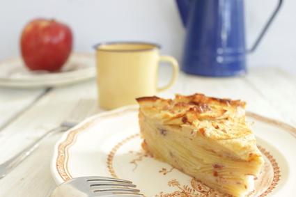 Recette de gâteau invisible aux pommes, sans sucre ni beurre