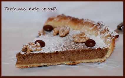Recette de tarte aux noix et café
