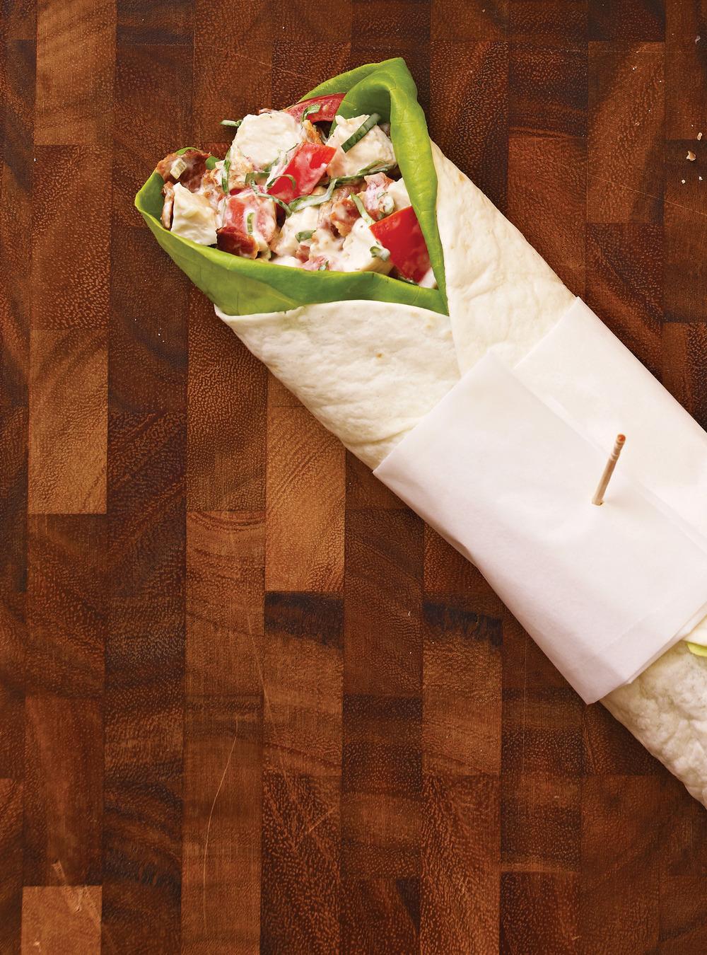 Garniture au poulet de base pour sandwich recettes ricardo recette - Idee garniture wrap ...