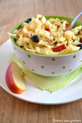 Recette de salade de chou vert, vinaigrette au vinaigre de framboise