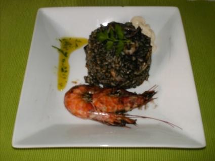 Recette arroz negro (riz noir)