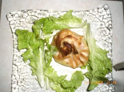Recette aumonières de saint-jacques et crevettes