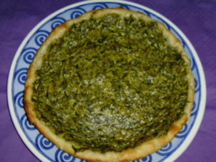 Recette de tarte aux épinards
