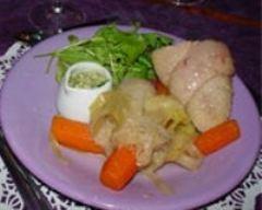 Recette pot-au-feu de magret de canard et sa sauce aux herbes