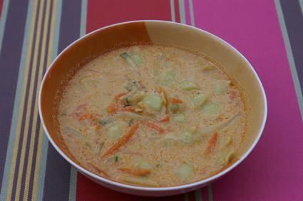 Recette de soupe thaïe