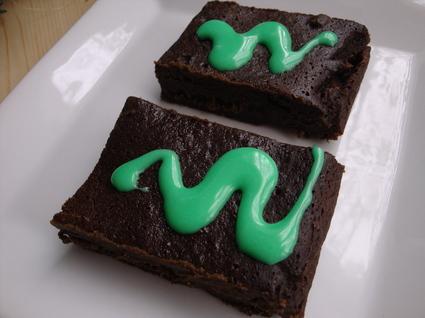 Recette de brownie extra fondant menthe-chocolat