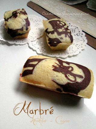 Recette de muffins marbrés choco-amande