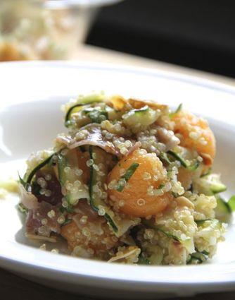 Recette de salade de quinoa, courgette et melon
