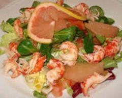 Recette salade d'écrevisses au pamplemousse