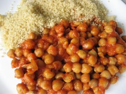 Recette de pois chiches en sauce tomate