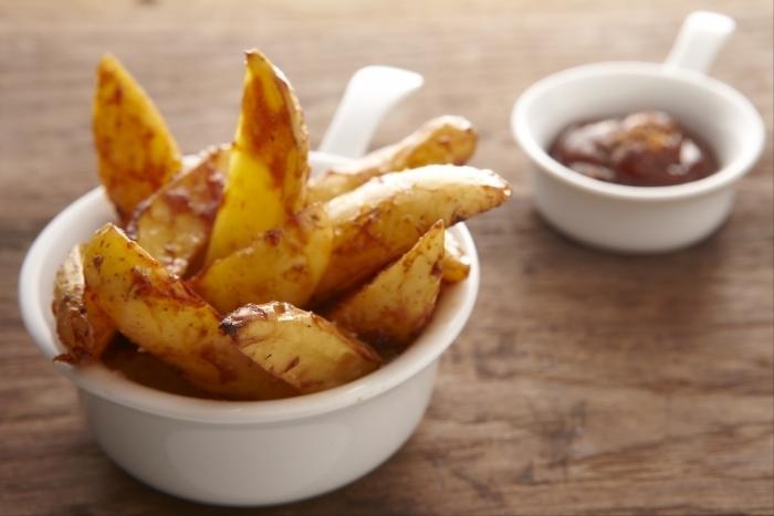 Recette de potatoes maison et sauce américaine barbecue facile et ...