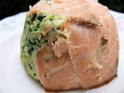 Recette de timbales de saumon aux courgettes