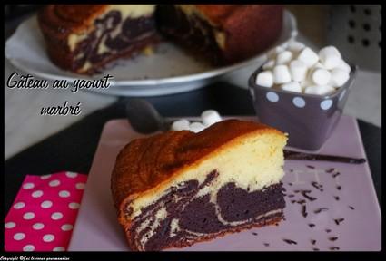 Recette de gâteau au yaourt marbré