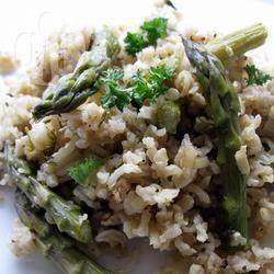 Recette risotto de riz complet aux asperges et au champagne ...