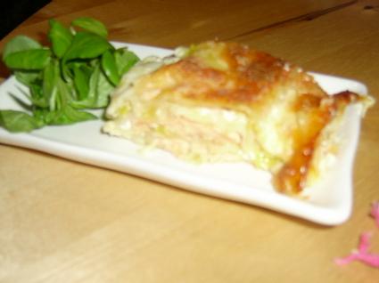 Recette de lasagnes de saumon, poireaux et mozzarella