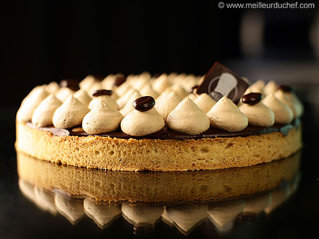 Tarte chocolat/café  fiche recette avec photos  meilleurduchef.com
