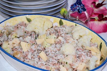 Recette de salade mêlée au riz
