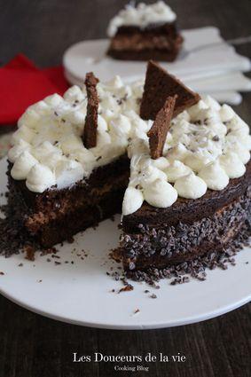 Recette de gâteau mousse aux 3 chocolats et zestes d'orange