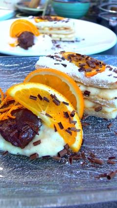 Recette de mille feuilles à l'orange et ganache au chocolat